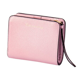 Two pearl 2 fold wallet mini-pink EDITO365 wallet fashion cute genuine leather Lady's marks