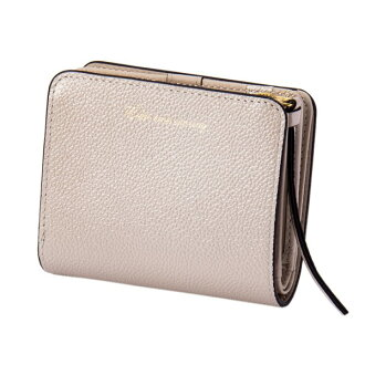 Two pearl 2 fold wallet mini-silver EDITO365 wallet fashion cute genuine leather Lady's marks