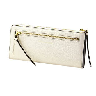 Mayor of pearl 2 LF long wallet ivory EDITO365 wallet fashion cute genuine leather Lady's marks