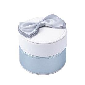 ラウンドジュエリーボックス ライトブルー ケース 宝石箱 アクセサリー おしゃれ かわいい マークス