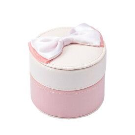ラウンドジュエリーボックス ピンク ケース 宝石箱 アクセサリー おしゃれ かわいい マークス
