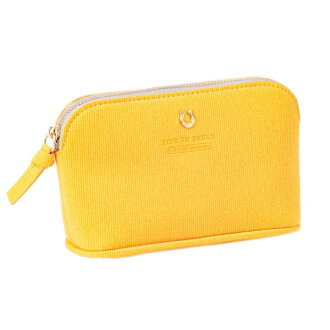 The horse's hoof marks that porch cosmetics accessory case yellow PEDIR ペディール fashion with corduroy gusset shows cute