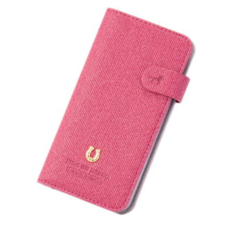 The marks that smartphone case notebook type PEDIR ペディールコーデュロイピンクフラップアイフォン fashion shows cute for 6 for iPhone 8 7 6s