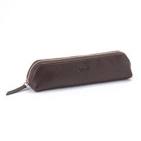 ドラリーノ ペンケース ブラウン 茶色 PEDIR ペディール 馬蹄 革 おしゃれ レディース メンズ 筆箱 ペン入れ マークス