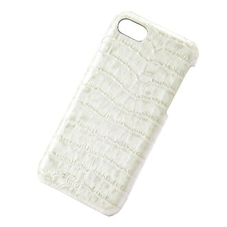The adult girl marks that smartphone back case Lilietmoi リリエモワタッセルクロコアイボリーバックアイフォン genuine leather leather fashion shows cute for 6 for iPhone 8 7 6s