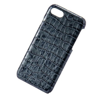 The adult girl marks that smartphone back case Lilietmoi リリエモワタッセルクロコネイビーバックアイフォン genuine leather leather fashion shows cute for 6 for iPhone 8 7 6s