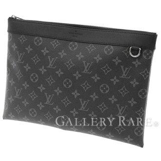 Louis Vuitton clutch bag monogram eclipse pochette Apollo M62291 LOUIS VUITTON Vuitton bag men