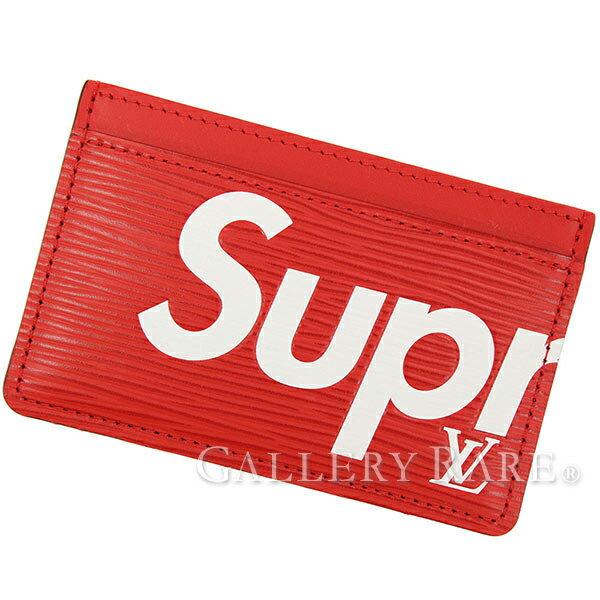 ルイヴィトン カードケース エピ ポルト・カルト・サーンプル シュプリーム コラボ Supreme M67712 LOUIS VUITTON ヴィトン 限定 レア パスケース 名刺入れ