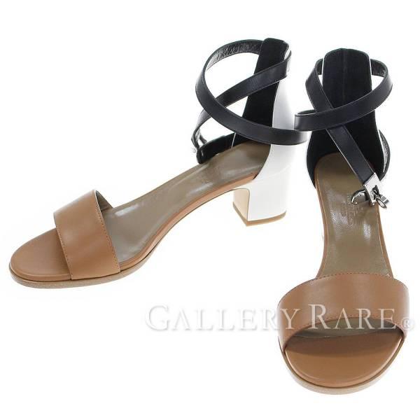 エルメス サンダル マネージュ Manege アンクルストラップ レディースサイズ36・1/2 HERMES 靴【安心保証】【中古】
