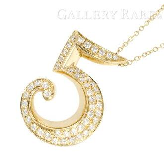 FRANCK MULLER Talisman Pendant No.5 Diamond K18 Yellow Gold Necklace 4826699