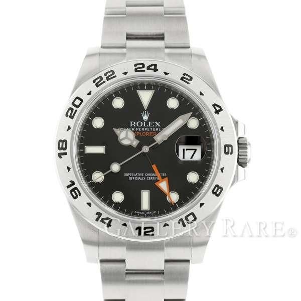 ロレックス エクスプローラー2 ランダム ルーレット 216570 ROLEX 腕時計 ウォッチ 黒文字盤【安心保証】【中古】