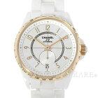 シャネルJ1236.5mmホワイトセラミックK18PGピンクゴールドH3839CHANEL腕時計【安心保証】【中古】