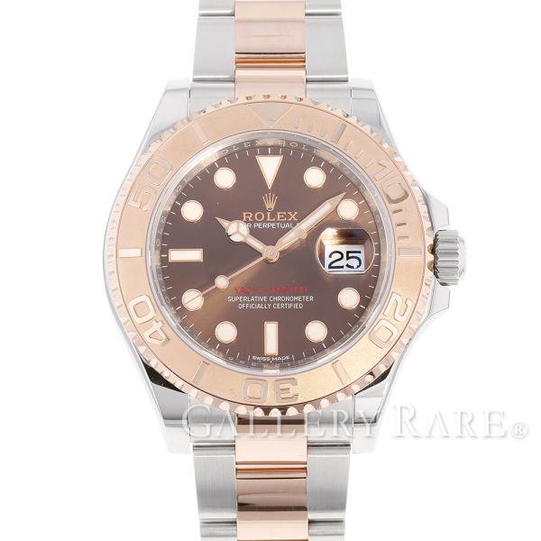 ロレックス ヨットマスター40 チョコレートブラウン SS×K18PGピンクゴールド ランダムシリアル ルーレット 116621 ROLEX 腕時計【安心保証】【中古】