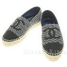 シャネルシューズエスパドリーユココマークツイードフラットシューズ19Cレディースサイズ36G29762CHANEL靴