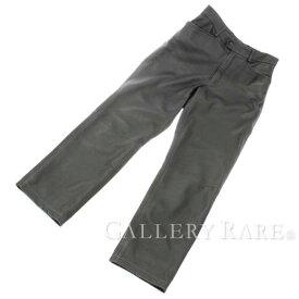 エルメス パンツ メンズ 黒 レザー HERMES メンズサイズ42 ズボン 服 ソルド品