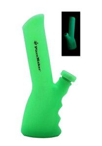 【ボング・水パイプ】 シリコンボング(Peace Maker)蓄光グリーン