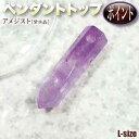 【バラ売り】《2月の誕生石》アメジスト[紫水晶]・ペンダントトップ◆ポイント・L◆・パワーストーン・天然石・ハン…
