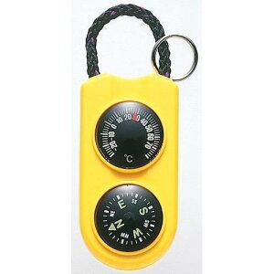 【クーポン20%オフ 10/15限定】EMPEX 温度計・コンパス サーモ&コンパス FG-5124 イエロー