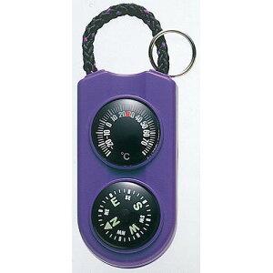 【クーポン20%オフ 10/15限定】EMPEX 温度計・コンパス サーモ&コンパス FG-5126 パープル