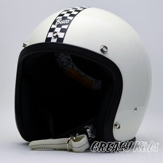 Motorcycle helmets BUCOxGREASYKIDS Collaboration 5th ENDURO OVER WHITE (L~XL)size