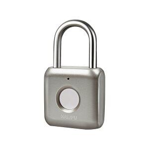 HALIPU 南京錠 指紋認証 タッチロック 指紋ロック 快速認証 20枚指紋登録可能 厚みある 小型 USB充電式 1年間待機 盗難防止 防水 防犯用 日本語説明書付き、製品1年限定保 (ゴールド)