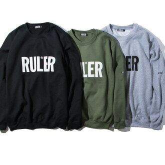 January arrival reservation product RULER (ruler) sweat shirt ICON SWEATSHIRTS(HEATHER GREY/O.D./BLACK) ● SWP RULER2019 spring and summer