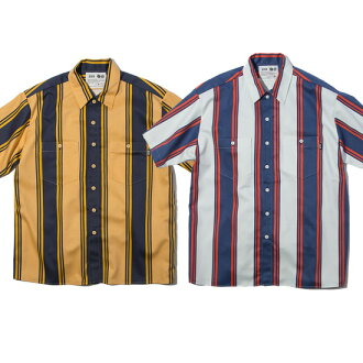 )) ● SHT RULER2019 spring and summer of) /NO.2(YELLOW in April of arrival reservation product RULER (ruler) short sleeves stripe shirt MULTI STRIPE SHIRTS(NO.1(WHITE origin origin
