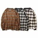 【予約商品10月入荷予定】RULER(ルーラー)VIERA CHECK L/S TEEチェックロングスリーブTシャツRULER2021AW