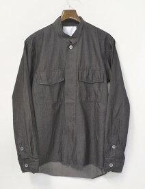 【中古】 UMIT BENAN (ウミットベナン) コットンシャツジャケット 46 スタンドカラーシャツ