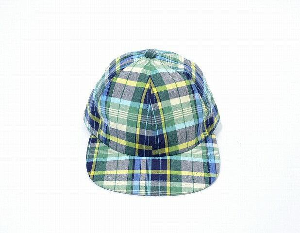 【新品】Mr. GENTLEMAN (ミスタージェントルマン) MADRAS CHECK CAP マドラスチェックキャップ 14SS GREEN CHECK グリーンチェック フリー BASEBALL CAP ベースボールキャップ