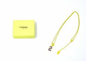 """【新品】 PHENOMENON × NANA-NANA (フェノメノン×ナナ ナナ) NUMBER NECKLACE """"2"""" ナンバーネックレス YELLOW×PURPLE"""