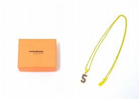 """【新品】 PHENOMENON × NANA-NANA (フェノメノン×ナナ ナナ) NUMBER NECKLACE """"5"""" ナンバーネックレス YELLOW×PURPLE"""
