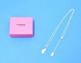 """【新品】 PHENOMENON × NANA-NANA (フェノメノン×ナナ ナナ) NUMBER NECKLACE """"4"""" ナンバーネックレス WHITE"""