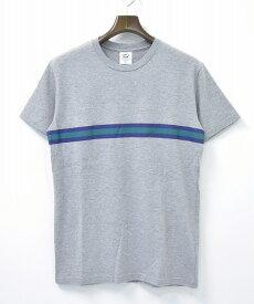 【新品】 Mr.GENTLEMAN (ミスタージェントルマン) TAPE PRINT S/S TEE テーププリント半袖Tシャツ M GREY 15SS