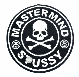 Stussy×mastermind JAPAN x Gallery 1950 (Stussy x mastermind Japan x Gallery 1950) Circle Skull Rag Mat Product by G1950 circlescarlag mat FREE BLACK