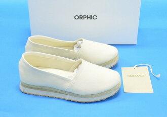 NAISSANCE×ORPHIC(nesansu×orufikku)ESPADRILLE麻底帆布鞋S(MEN 7)IVORY 16SS运动鞋鞋鞋