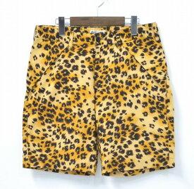 【中古】WHITE LINE (ホワイトライン) WL Original Leopard Shorts オリジナルレオパードショーツ 16SS BLACK BROWN 46 ブラックブラウン SHORT PANTS ショートパンツ HALF ハーフ