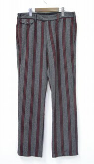 工程服装 (工程师埃德加文书) 剑桥喘气-垂直羊毛条纹剑桥裤子垂直羊毛条纹灰色/红 34 灰色 / 红色裤子裤子裤子裤子裤子