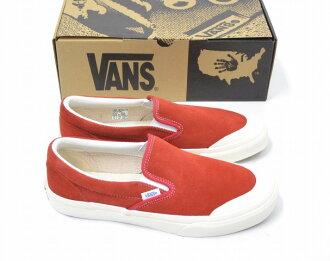 VANS(旅行车/卡车)SLIP ON HALFMOON懒汉鞋下弦月US9 27cm RED 16AW BILLY'S限定V98S HM BILLYS运动鞋鞋鞋