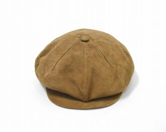 8cdbf4cf41e96 ENGINEERED GARMENTS (エンジニアードガーメンツ) Newsboy Cap - Sheep Suede newsboy cap  sheep suede Camel L camel Casquette casquette hat Leather sheep leather ...