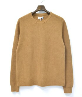 SATURDAYS SURF NYC(星期六冲浪纽约)Lee Sweater毛衣16AW Burnt Khaki XS Crew Neck Knit圆领编织物