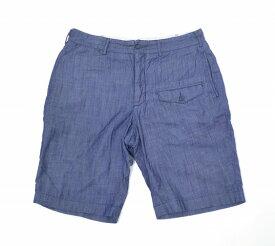 【中古】 ENGINEERED GARMENTS (エンジニアードガーメンツ) Ghurka Short グルカショーツ Indigo 34 インディゴ Lt. Weight Denim ライトウェイトデニム Short Pants ショートパンツ Half ハーフ Light Shorts