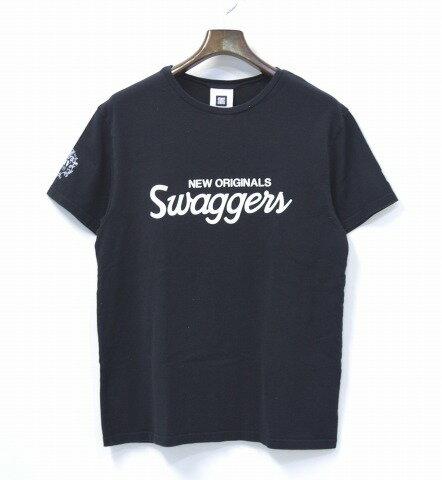 【中古】 SWAGGER (スワッガー) 14th ANNIVERSARY TEAM TEE 14アニバーサリーチームTシャツ L BLACK 14周年記念 LOGO ロゴ S/S TEE 半袖