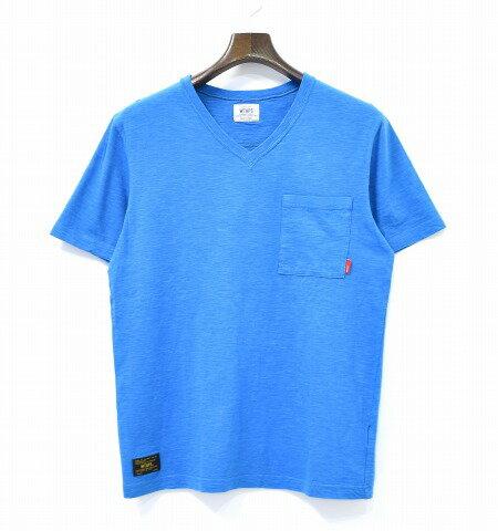 【中古】 WTAPS (ダブルタップス) BLANK S/S-V 02 / TEE. COTTON. CANDY ブランク VネックTシャツ S BLUE ブルー V NECK POCKET T-SHIRTS ポケット CUTSEW カットソー SHORT SLEEVE ショートスリーブ 半袖