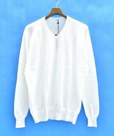 中古  中古  HoSIO (オジオ) V-NECK KNIT Vネックニット M WHITE 長袖 SWEATER セーター MADE IN  ITALY イタリア製 8aec718f6f4