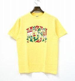 【新品】 STANDARD CALIFORNIA (スタンダードカリフォルニア) NEW BOHEMIA SIGNS FOR SD MISSION T プリント半袖Tシャツ S YELLOW 17AW T-SHIRT TEE