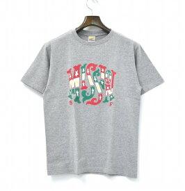 【新品】 STANDARD CALIFORNIA (スタンダードカリフォルニア) NEW BOHEMIA SIGNS FOR SD MISSION T プリント半袖Tシャツ S GREY 17AW T-SHIRT TEE