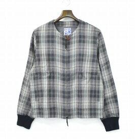 【新品】 SPLOTCH of ink (スプロッチインク) Collarless SWINGTOP Jacket カラーレススイングトップジャケット Gray M