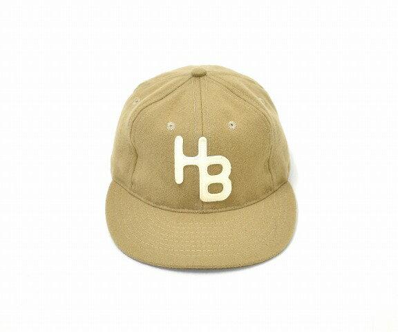 【中古】 hobo (ホーボー) Wool Baseball Cap by EBBETS FIELD FLANNELS ウールベースボールキャップ バイ エベッツフィールドフランネルス ONE SIZE ワンサイズ BEIGE ベージュ LEATHER STRAP レザー ストラップ ADJUSTER アジャスター 6パネル 帽子 MADE IN USA