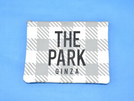 【中古】 THE PARK・ING GINZA (ザ パーキングギンザ) ギンガムチェッククラッチバッグ WHITE×GREY 17SS THE PARK ザ・パーク パーキング銀座 CLUTCH BAG